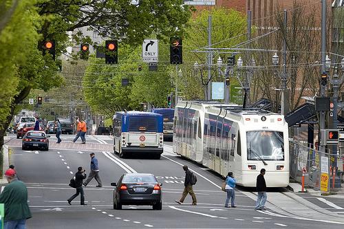 Verkehr an Portlands Transit Mall