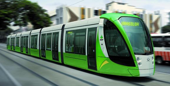 Gelegentlich ohne Oberleitung: Alstom-Zug für Brasilia (Bild: Alstom)