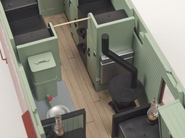 Die Inneneinrichtung des Caboose ist unübertroffen (Foto: Weidelich)