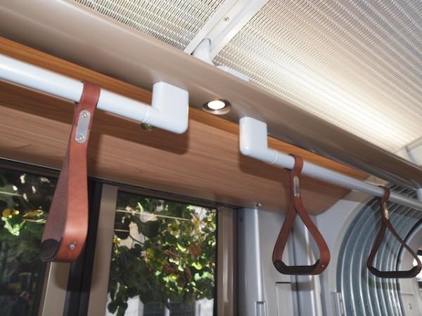 Leder-Haltegriffe, Halogenlampen und edle Hölzer – Brüssel wählte gutes Design (Foto: Weidelich)