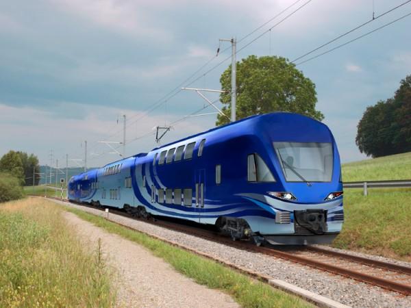 So werden die Westbahn-Züge aussehen  (Illustration: Westbahn/Stadler)