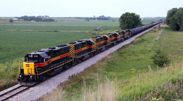 Auch eine RDC-Bahn: Iowa Interstate RR mit Äthanolzug (Foto: RDC)