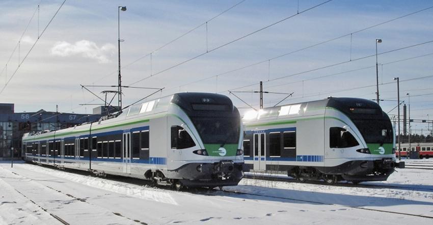 Gut isolierte Breitspurzüge für Finnland (Foto: Stadler)