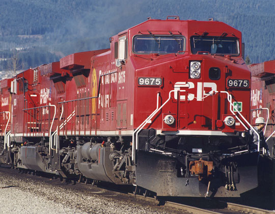 AC 4400-Loks im Rangierbahnhof Port Coquitlam, British Columbia (Foto: CP)